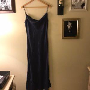 Blue VS silk nightgown